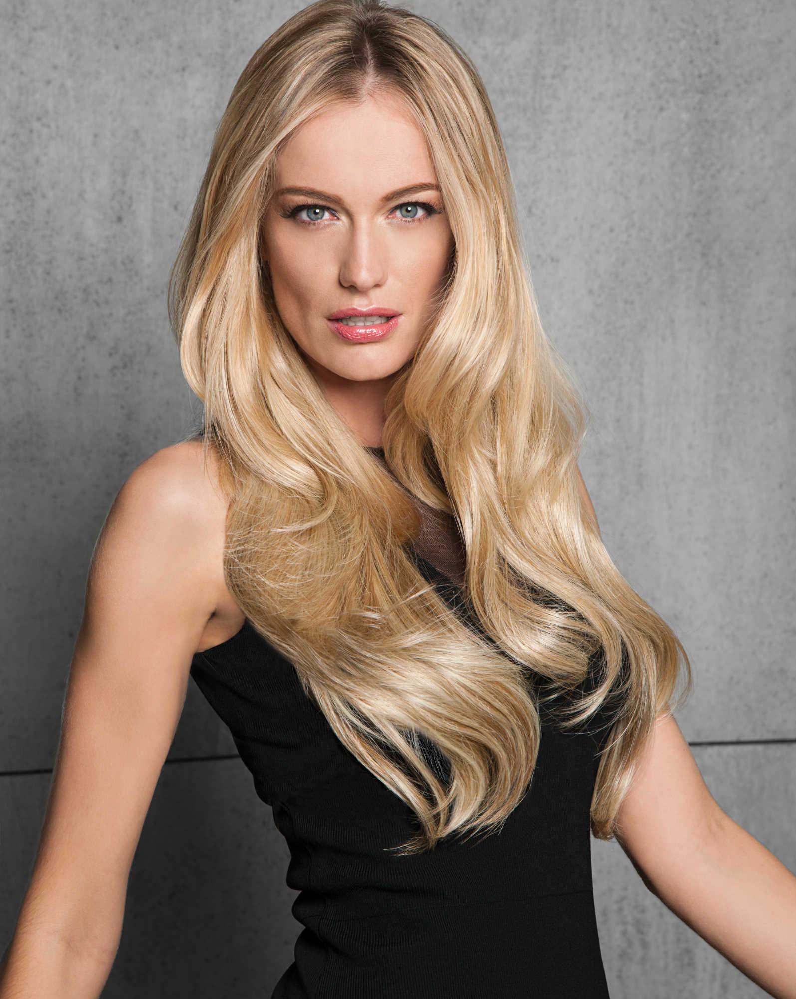 Invisible Hairdo Echthaar Extension 58 cm – Glatt (straight) oder Gewellt (wavy)