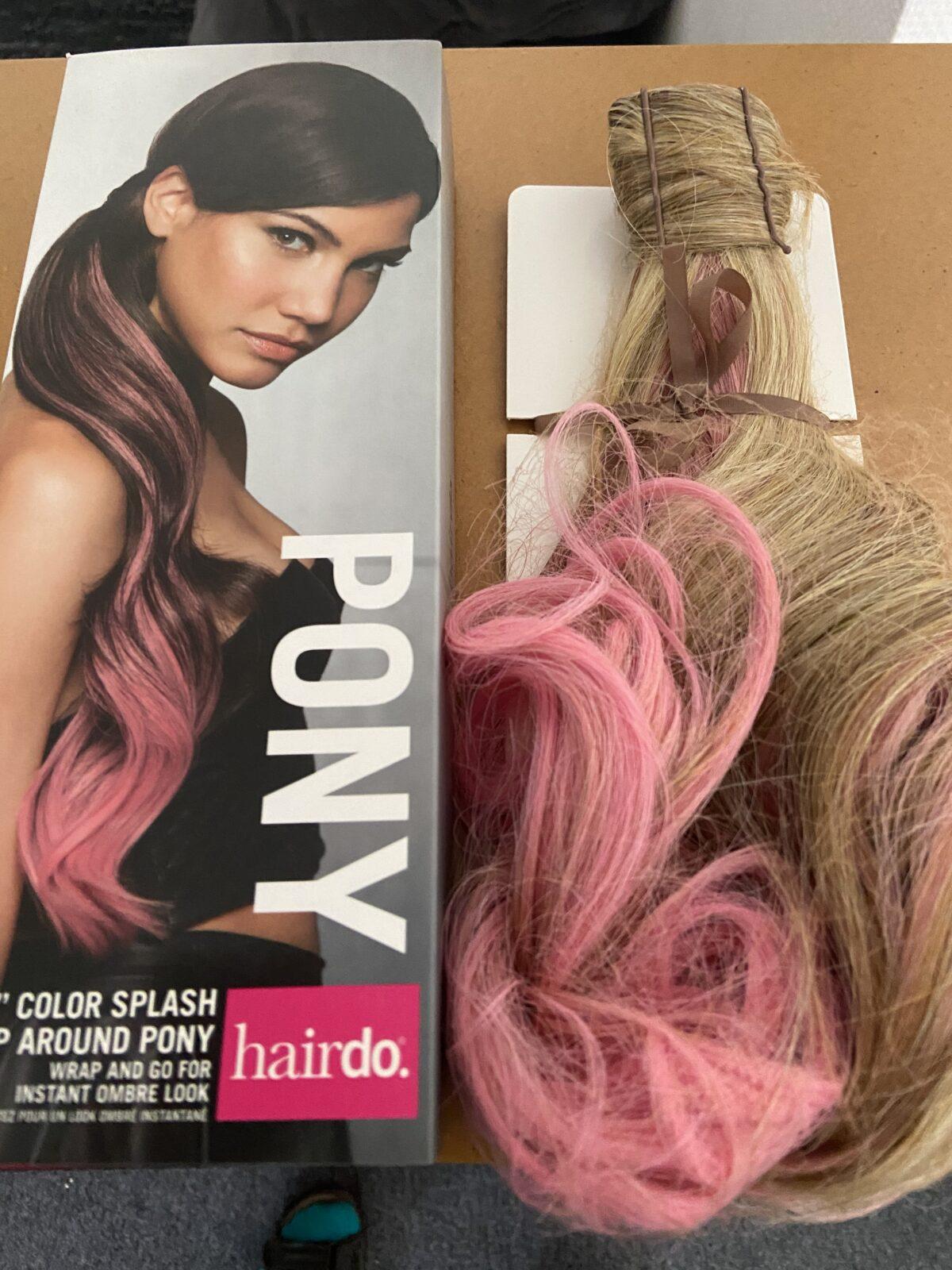 Color Splash Wrap Around Pony Godblond-Mix - Pink