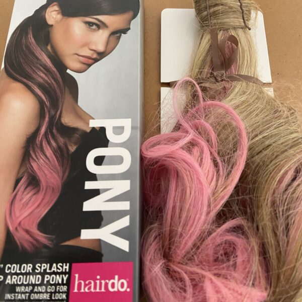 Color Splash Wrap Around Pony Godblond-Mix - Pink