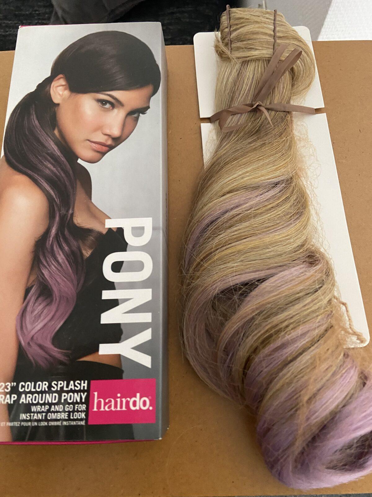 Color Splash Wrap Around Pony Godblond-Mix - Lavendel